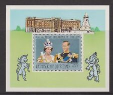 QEII 1977 Silver Jubilee MNH Stamp Sheet Chad Perforated (Tchad) SG MS494
