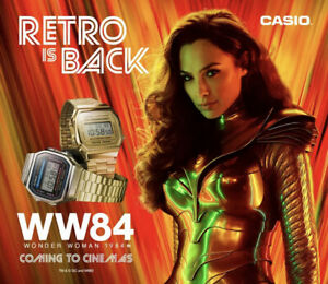 Casio A168WA-1YES Digital Lcd Unisex Wristwatch Wonder Woman