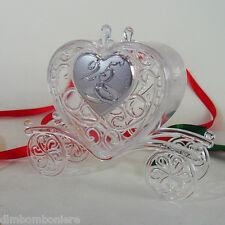 Bomboniere segnaposti scatolina carrozza cuore 25 anniversario nozze d'argento