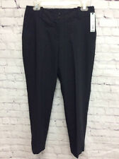 A New Day Womens Straight Leg Pants Gray Heathered Stretch Pocket Trousers 4 New