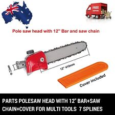 7 T POLESAW POLE SAW HEAD REPLACEMENT W/BAR CHAINSAW COVER BRUSHCUTTER CHAIN SAW