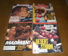 4 DIFFERENT BOXING SPORTS ILLUSTRATED - MIKE TYSON COVERS