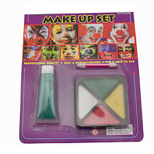 Green Tube Yellow White Red Face Paint Kit Set Makeup Halloween Costume Prop New