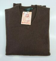PULL TAILLE M SWEATER HOMME 100% PUR CASHMERE CACHEMIRE J CREW  BRAUN