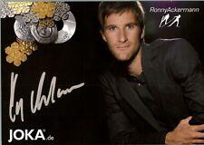 Ronny Ackermann Autogrammkarte mit Unterschrift original signiert AK NEU 11 UH