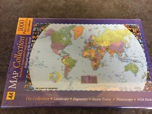 AA Political Map Of The World 1000 Piece Jigsaw Puzzle New Sealed Include Poster