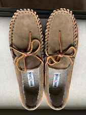 Minnetonka Men's Slippers Tyson Traditional Trapper Autumn Brown Size 10