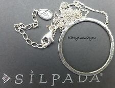Silpada Duomo Necklace N3087 Hammered Sterling Silver