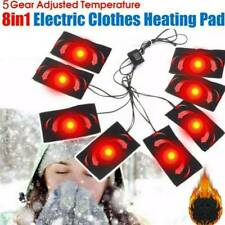 8-in1 USB Heating Pad Thermal Vest Heated Jacket Motorcycle Winter Fast Warm Pad