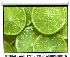 CRYSTAL BRAND 8x6 FT CINEMA  WALL TYPE PROJECTOR  SCREEN, A+GRADE