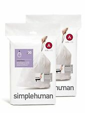 simplehuman Custom Fit Trash Can Liner A, 4.5 Liters / 1.2 Gallons, 30-Count ...