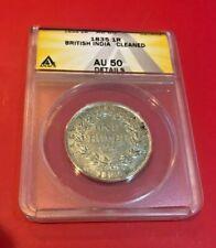 1835 1 RUPEE COIN BRITISH INDIA NGC AU 50 DETAILS