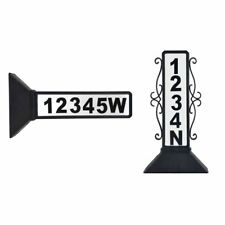 Moonrays 91919 Solar Powered Wireless LED Home Address Sign Light, Black Finish