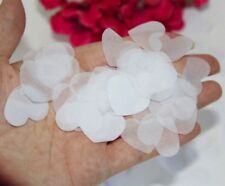 3000pcs or 50g/Pack (3cm) White Heart Shaped Biodegradable Paper Confetti