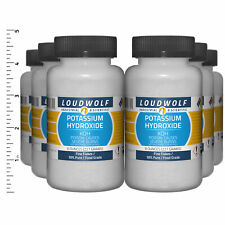 Potassium Hydroxide 3 Lb Total 6 Bottles Food Grade Fine Flakes Usa Seller