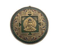 Mandala Mantra Tibetano De Barro Y Papel Buda Dhyani Akshobya Nepal 9531