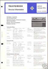 Telefunken Orig. Service Manual für partner exclusiv 401 L