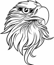 BALD EAGLE HEAD SIDE ON,ANIMALS,BIRDS, CAR DECAL STICKER