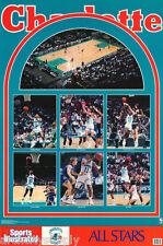 POSTER:NBA BASKETBALL: CHARLOTTE  HORNETS 1990 STARS - FREE SHIP #7470  RP93 J