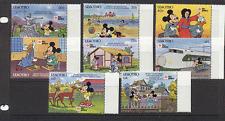 Lesotho 1991 DISNEY/TRAIN/PhilaNippon 8v set ref:n16746