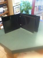 50 Twelve  DISC MULTI-PACK POLY CASE BLACK W 6 DOUBLE SIDED BLACK SLVS  PP12BLK