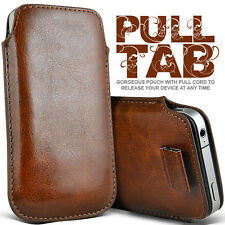 LEATHER PULL TAB SKIN CASE COVER POUCH  FOR VARIOUS HP PHONES