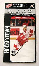 Red Wings Steve Yzerman Photo Wings Game ticket stub - face value $37.