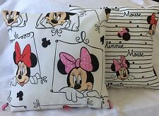 Pair of Minnie Mouse Handmade cushion covers/ pillow cases 16 inch x 16 inch