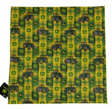 "Wholesale Lot 12 (1 Dozen) 22""x22"" John Deere Tractor Green Plaid Bandana"