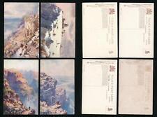 TUCKS OILETTE 7680 BONNIE SCOTLAND BEN NEVIS 4 CARDS UNUSED ARTIST WIMBUSH