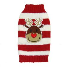 Cute Christmas Dog Sweater Clothes Warm Knitted Jumper Apparel Small Large Dog
