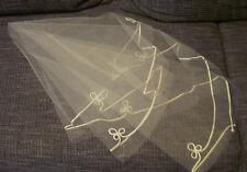 Brautschleier Einlagig mit Applikationen Brautschmuck Ivory Hochzeit