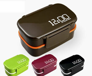 Lunch Bento Box Leakproof Two Compartments with Cutlery for Adults Kids