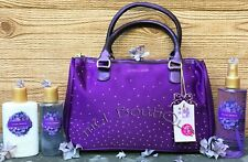 1 VICTORIAS SECRET LOVE SPELL STUDDED PURPLE HAND BAG LOTION MIST WASH GIFT SET
