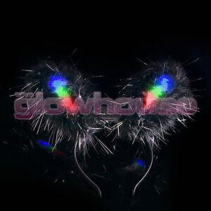 Light Up LED Bunny Ears Flashing Hen Party Fancy Dress