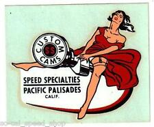 VINTAGE 1950's PINUP AUTO WATER DECAL RAT HOT ROD CUSTOM OLD GASSER DRAG RACING