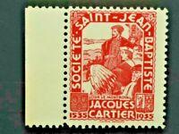 Societe Saint Jean Baptiste Red 1935 JACQUES CARTIER Q.C.Canada F/VF SSJB