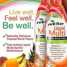 LIQUID reViva Multivitamin Twin Pack 2 X 32 Ounce Tropical Burst/Smooth FREE SHP