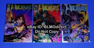 Witchblade #1, #2 & #3 Euro Chromium Variant Set Turner Chrome Michael Turner