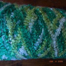 BOBINE FIL TRICOTER/CROCHETER VERT CHINE  0,26 KG (avec cône) / knotting yarn