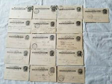 Lot Of 16 Ux14 1900-02 1-Cent Us Postal Cards Jefferson Used