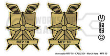New! Mad Max MFP MAIN FORCE DECAL STICKER - TWIN SET - MFP 508 - Interceptor
