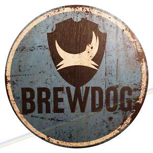 Circle Wooden Signs - BREWDOG Man Cave Wall Vintage Retro Wood Bar Pub Beer Sign