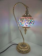 Turco LED Lampada SWAN marocchino di qualità superiore UK CERT vetro mosaico e oro base