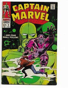 """CAPTAIN MARVEL 8 - F/VF 7.0 - """"--AND FEAR SHALL FOLLOW!"""" (1968)"""