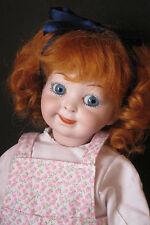 """perruque Mohair roux poupée ancienne-16/17cm-Fait en FRANCE-Mohair wig Sz 6.5"""""""