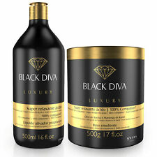 Ybera Acid Relaxation Treatment Keratin Diva Black 500ml + 500gr PROMOTION