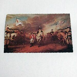 Vintage Bicentennial Postcard British Surrender at Yorktown Mike Roberts 1975