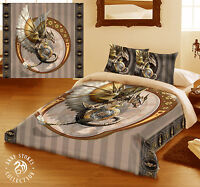 Anne Stokes STEAMPUNK DRAGON - Duvet Cover Bed Linen Set - Available in 2 sizes