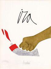 "litografia Emilio Tadini ""Ira"" / ""Rage"" - Firmato / Signed"